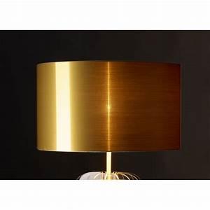 Lampe à Poser Cuivre : lampe transparente en plexi et abat jour or argent ou ~ Dailycaller-alerts.com Idées de Décoration