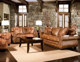 classic leather light brown sofa set for rustic living