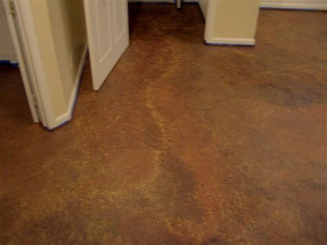 Floors: Painting Basement Floor Brown Stone Pattern Floor
