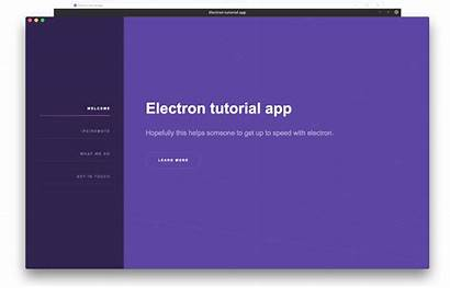 Electron App Tutorial Application Objective