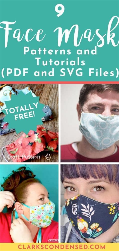 face mask patterns  tutorials