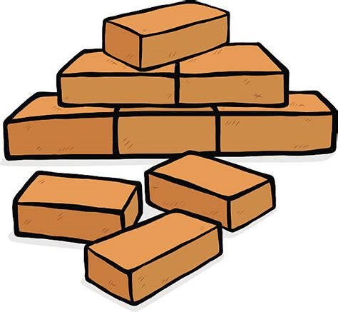 Brick Clipart Brick Clipart Pile Brick Pencil And In Color Brick