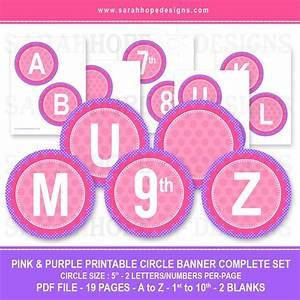 happy birthday circle letter banner free printables With party banner letters