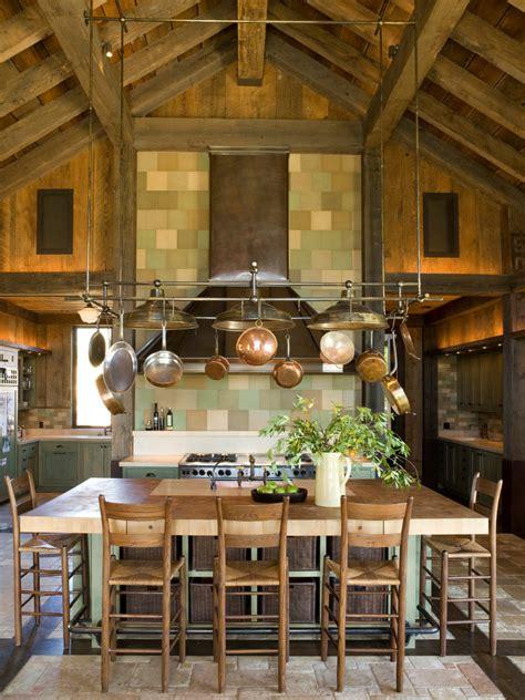 gorgeous olive oil dispenser  kitchen rustic  bucket sinks   hanging pots  pans