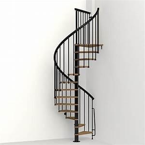 Shop Arke Nice1 51-in x 10-ft Black Spiral Staircase Kit