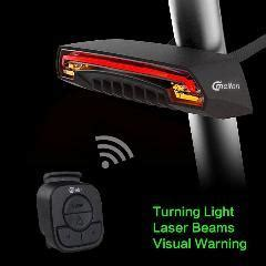 meilan x5 bicycle smart rear light bike wireless remote turning signal l laser
