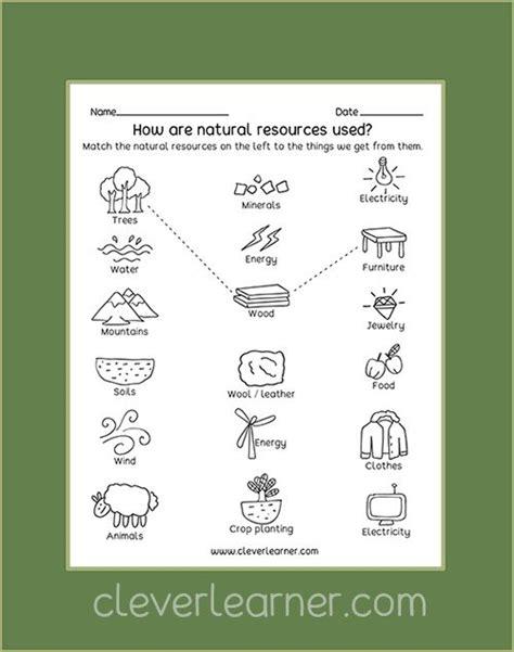 by clever learner natural resources kindergarten science activities social studies
