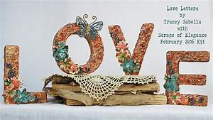 scraps of elegance february 2016 kit diy mixed media home With 3d letters home decor