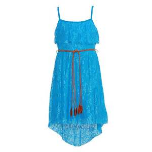 Rare Editions Turquoise Lace Popover Bodice Summer Dress ...