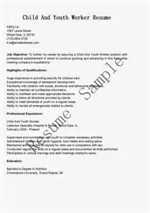 youth worker resume exles resume sles child and youth worker resume sle