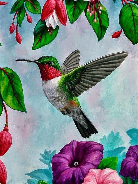 pinturas de flores  pajaros pajaros surtidos en
