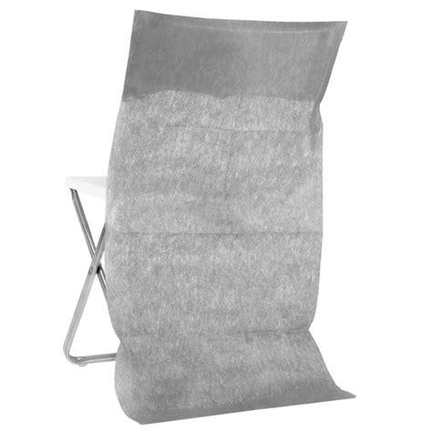 housse de chaise dossier rond housse dossier de chaise intissé gris les 10 housses de