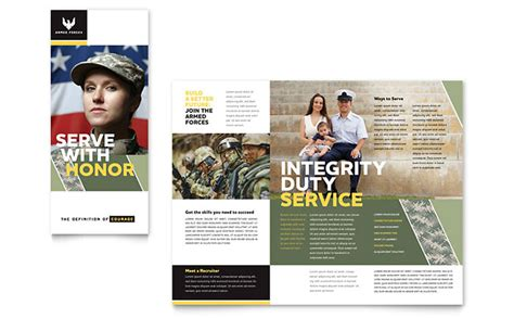 military brochure template word publisher