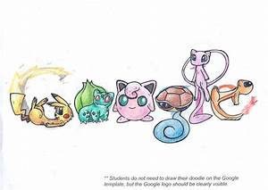 doodle 4 google pokemon by inthivity on deviantart With doodle for google template