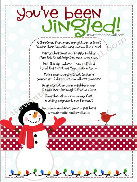holiday party poem it s written on the wall you ve been jingled way to package treats for