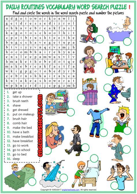 printable daily activities worksheet  worksheet blog