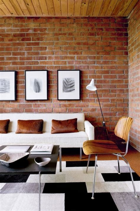 decorating brick wall ideas 59 cool living rooms with brick walls digsdigs