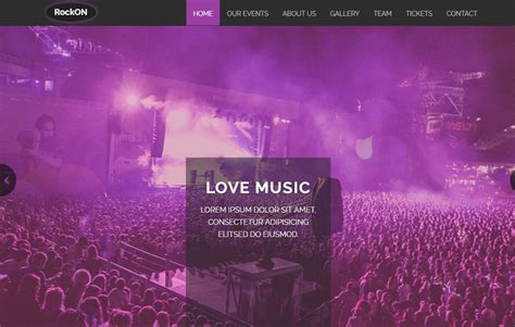 Free Music Bootstrap Web Template