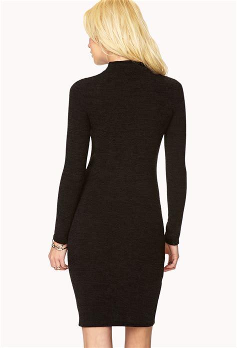 forever 21 sweater dress forever 21 must sweater dress in black lyst
