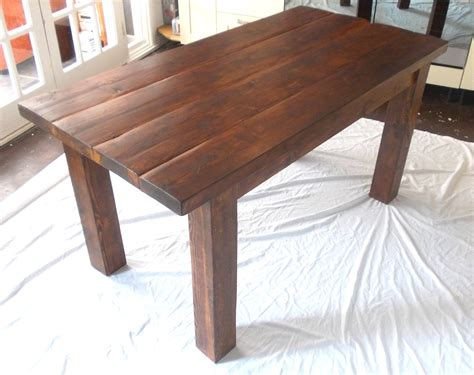 table de cuisine en bois rustic solid wood plank kitchen dining table stained in