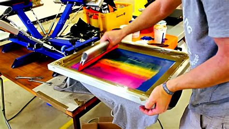 how to print on silk how to screen print t shirt designs properly youtube