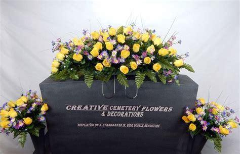 headstone flower arrangement ideas cemetery silk flower memorial headstone tombstone