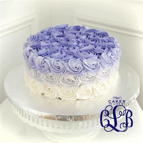 purple ombre rose cake cakes    pinterest