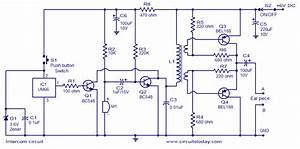 Two Way Intercom Circuit Diagram Using Transistors And