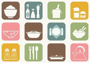 Dinner Table Vector Icons - Download Free Vector Art ...