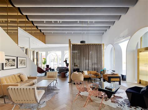 knoll creates  moroccan inspired showroom   home