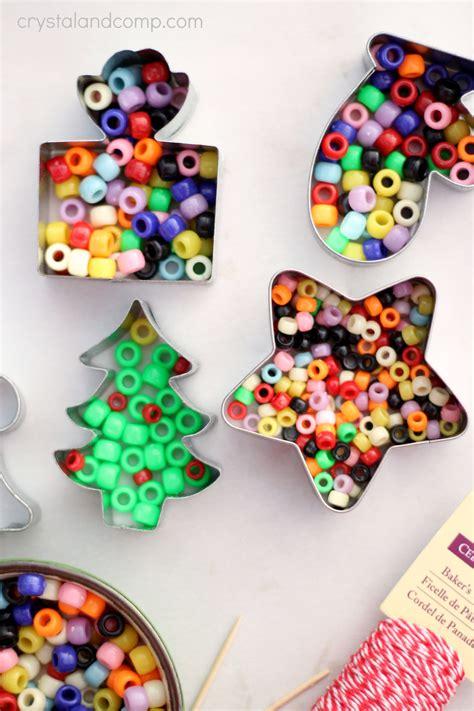 easy christmas ornaments to make for kids handmade beaded ornaments