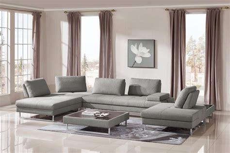baxter divani outlet vig divani casa baxter grey fabric sectional sofa coffee