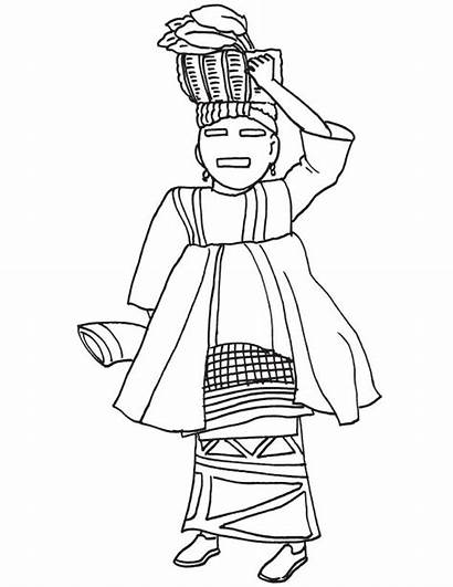 African Doll Coloring Pages