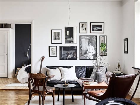 Apartment Leather Sofa by Cozy Living Room With Black Leather Sofa Home