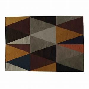 tapis en laine multicolore 160 x 230 cm archi maisons du With tapis laine multicolore