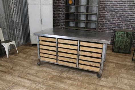 stainless steel kitchen island with drawers stainless steel kitchen island on castors eighteen pine 9401