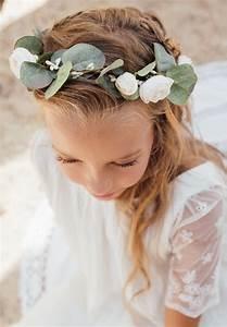 Couronne De Fleurs Mariage Petite Fille : couronne avec feuillage d eucalyptus pour fille et b b ~ Dallasstarsshop.com Idées de Décoration
