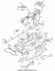 Mtd 14ap805k730  2006  Parts Diagram For Deck Assembly