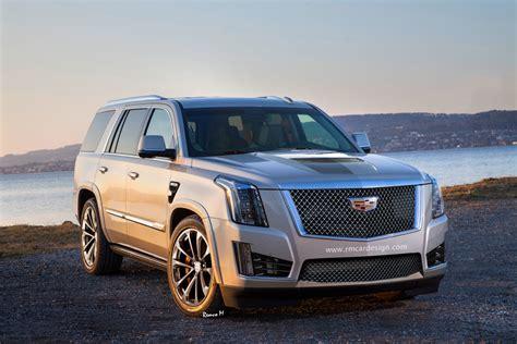 2020 Cadillac Escalade Vsport by High Performance Cadillac Escalade V Rendered Carscoops