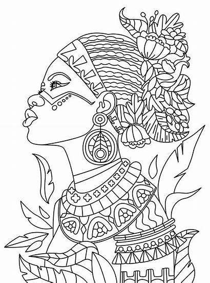 African Coloring American Pages Getdrawings Mandala Adults