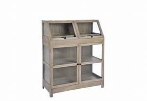 meuble d39appoint vitre serre bois blanc 100x45x121cm j With meuble j line