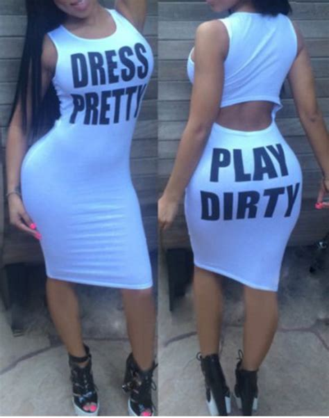 hot dress quotes dress sexy play dirty white trendy fashion style