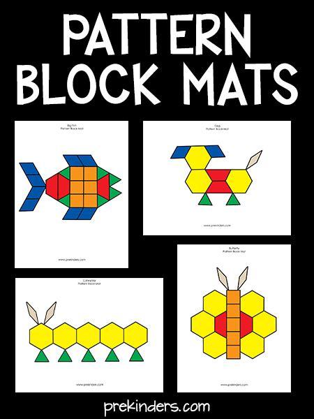 pattern block mats pattern blocks  preschool