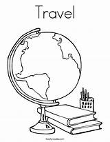 Coloring Travel Twistynoodle Built California Usa Globe sketch template