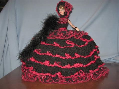 sale ooak hand crocheted barbie bed pillow doll