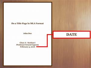 Formal Report Title Page How To Do A Title Page In Mla Format With Examples Wikihow