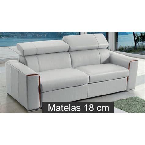 canap lit en cuir canapé lit rapido en cuir avec matelas 18 cm verysofa renoir