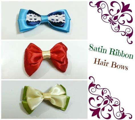 diy hair bows  ribbons     ribbon hair bow