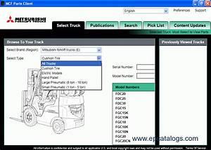 Mitsubishi Forklift Trucks 2011 Epc Spare Part Book