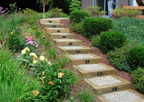 steps for landscaping replace the railroad tie steps su my garden landscape ideas pinterest nice the o jays